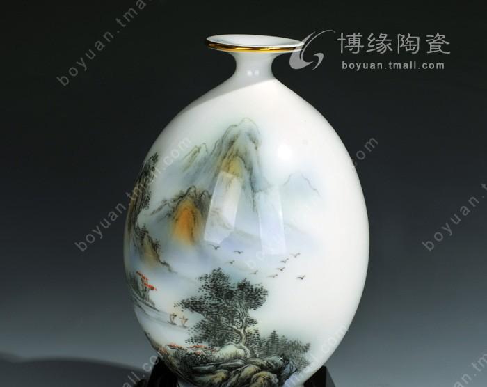 手绘花瓶 德化陶瓷