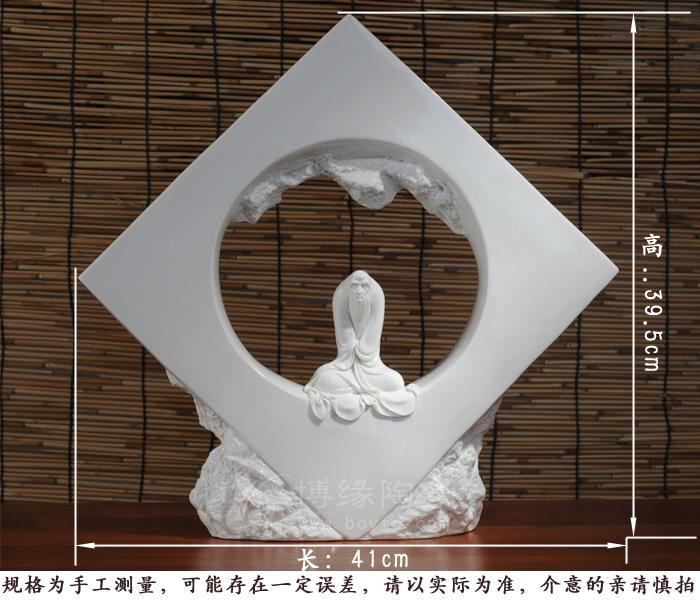 道 家居镇宅人物摆件 手工雕塑 陶瓷礼品 佛教用品 福建省工艺美术师